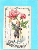 CPA COLORISEE GAUFFREE -  SOUVENIR - Jeune Enfant Aux Roses - ENCH0616 - - Neonati