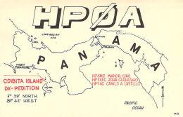 Amateur Radio QSL Card - HP0A - Panama - Coibita Island DXpedition 1968 - 2 Scans - Radio Amateur