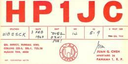 Amateur Radio QSL Card - HP1JC - Panama - 1968 - Radio Amateur