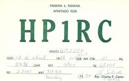 Amateur Radio QSL Card - HP1RC - Panama - 1968 - Radio Amateur