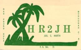 Amateur Radio QSL Card - HR2JH - Honduras - 1967 - 2 Scans - Radio Amateur