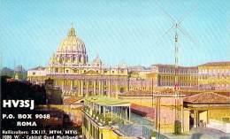 Amateur Radio QSL Card - HV3SJ - Vatican - Rome, Italy - 1967 - 2 Scans - Radio Amateur