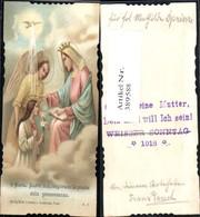 389588,Andachtsbild Heiligenbildchen Maria Engel Kind Taube Firmung Herz Lilie O Mari - Andachtsbilder