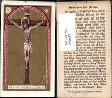 389657,Andachtsbild Heiligenbildchen Jesus A. Kreuz Kreuzigung Gebet Z. Heil. Kreuze - Images Religieuses