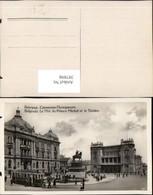 397898,Serbia Belgrade Belgrad Monument Du Prince Michel Et Le Theatre Straßenbahn Li - Serbien