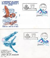 1986, Espagne - Water-polo, Natation -  2 FDC's YT  2473 ; Lot 255