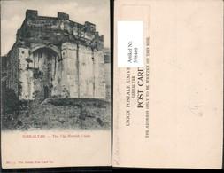 398469,Gibraltar The Old Moorish Castle Burg - Gibraltar