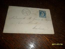 AMBULANT !!! SUR TP N° 22 Lettre (HP 1 ° ) ++( LE HAVRE A PARIS) -2 Photos - Marcophilie (Lettres)