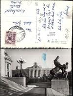 401090,Serbia Beograd Belgrad Glavna Posta Gebäude Statue - Serbien