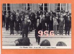 * * LE MONDE VECU * * PARIS 1981. Le 1er Cabinet Maurois ( 2 Scans ) - Parteien & Wahlen