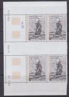 "TAAF 1985 Frigate ""La Novara"" 1v  Bl Of 4 (margin, Printing Date) ** Mnh (TA118C) - Luchtpost"