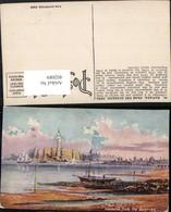 402089,Künstler AK Cuba Havana From The Quarries Teilansicht Segelschiff Boote - Ansichtskarten