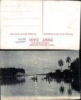 402134,Ceylon Fishing By Moonlight On The Colombo Lake See Fischer Mondschein - Sri Lanka (Ceylon)