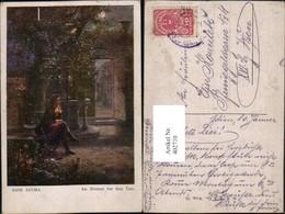 402710,Künstler AK Hans Zatzka Am Brunnen Vor Dem Tore Mann Mondschein - Zatzka