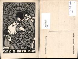 403237,Künstler AK Marga Hertz-Lücker Anbetung Maria M. Jesuskind Engeln - Non Classés