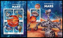 SIERRA LEONE 2016 - Exploration Of Mars, M/S + S/S. Official Issue.