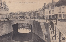 16/  7 / 252  - 2  CPA  DE    BERGUES  ( 59 )  -LE  PONT  ST.  JEAN  & PORTE  DE BIERNE - Bergues