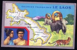 Thèmes > Cartes Géographiques Colonies Francaises Le LAOS - Carte Geografiche