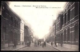 HAMME - STATIESTRAAT -- Zeer Geanimeerde Kaart - édit. Carbonez - Enkelcirkel Hamme 1907 Op Rug - Hamme