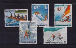 GREECE STAMPS WINTER AND WATER SPORTS-28/4/83 -USED-COMPLETE SET - Gebraucht
