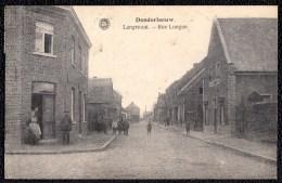DENDERLEEUW - LANGESTRAAT - Niet Courante Uitgave Hermans - Met Enkelcirkel Bruxelles Oost 1921 Op Rug - Denderleeuw