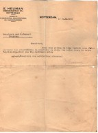 VP5199 - Lettre - Manufacturen E. HEUMAN à ROTTERDAM - Pays-Bas