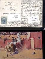 408302,Künstler Ak Mariano Bertuchi Un Toro Codicioso Stier Pferd Kampf Stierkampf Sp - Stierkampf