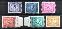 PIA - ITA - Specializzazione : 1955 - 61 : Segnatasseasse  - (SAS 111-13-14-15-18-19 - CAR 22-24-25-26-28-29) - Variétés Et Curiosités