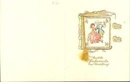 408448,Klappkarte Billet Vermählung Hochzeit Paar Goldschrift - Hochzeiten