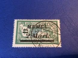 Memel Memelgebiet Cad / Stempel AGLOHNEN 1923 Geprüft Dr. Petersen BPP Merson Michel 88 - Memel (1920-1924)