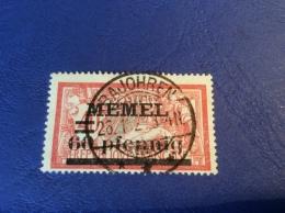 Memel Memelgebiet Cad / Stempel BAJOHREN  Geprüft Dr. Petersen BPP Merson Michel 24y (BITCOIN) - Memel (1920-1924)