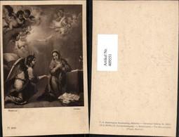 409551,Künstler AK Murillo Die Verkündigung Engeln Pub A. Ackermann 2895 - Engel