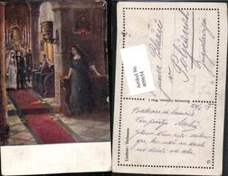 409654,Künstler AK Lindner Verlassen Kirche Hochzeit Voyeurismus - Hochzeiten