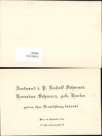 409647,Anzeige Vermählung Rudolf U. Hermine Schwarz 1943 - Hochzeiten