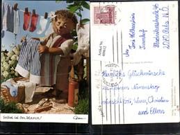 409612,Mecki 413 Selbst Ist Der Mann Igel Wäsche Aufhängen Wäscheleine Pub Diehl-Film - Mecki