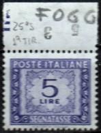 PIA - ITA - 1969 : Segnatasse  £ 5  - (SAS 111-1 - CAR 30) - Variétés Et Curiosités
