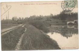 Environs De Belfort Un Coin De Morvillars Et L'etang Circulee En 1907 Wagonnet Voie Ferrée Aiguillage - France