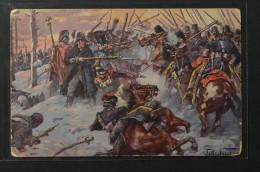 Postcard  Fritz Neumann Napoleon War 1812 Battle Of Krasnoi Bataille De Krasnoi  (1003) - Altre Guerre