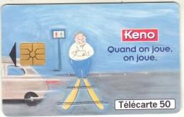 Télécarte 50 - KENO - Jeux