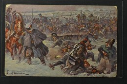 Postcard Fritz Neumann Napoleon War 1812 Battle Of Berezina Passage De La Beresina (1004) - Otras Guerras