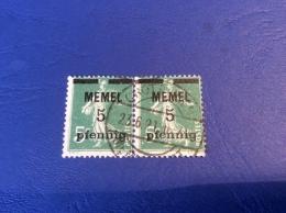 Memel Memelgebiet Cad / Stempel CROTTINGEN 1921 Geprüft Dr. Petersen BPP Semeuse Michel 18b - Memel (1920-1924)
