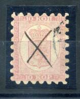 1860 FINLANDIA N.4 USATO - 1856-1917 Russian Government