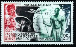 Madagascar,  Universal Postal Union, 75th Anniv., 1949, MNH VF  Airmail - Madagascar (1889-1960)