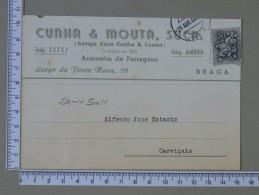 PORTUGAL    - CUNHA & MOUTA, LDA    2 SCANS - (Nº15293) - Postwaardestukken