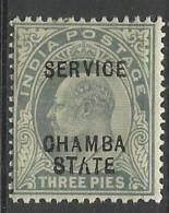 CHAMBA..1903/1905..Michel # 15..MLH. - Chamba
