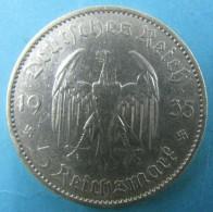 AC - GERMANY 1935 A 5 MARK WW2 NAZI SILVER Garrrisonkirche 3rd Reich - [ 4] 1933-1945 : Tercer Reich
