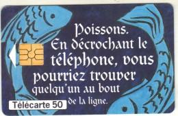 Télécarte 50 - LE POISSON - Zodiaque