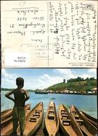 412106,Ivory Coast Elfenbeinküste Abidjan Pirogues Sur La Lagune Boote Kind - Ansichtskarten