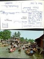 412250,Thailand Bangkok Wad Sai Floating Market Schwimmender Markt Boote - Thaïland