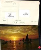 412262,China Hongkong Aberdeen At Night Sonnenuntergang Segelboote Boote - China